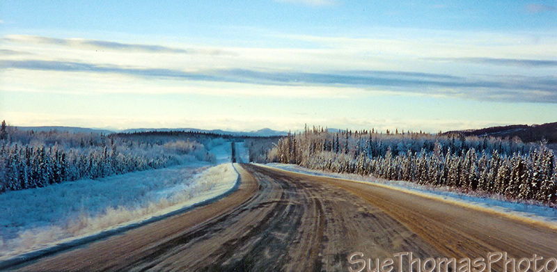 Northbound on the Alaska Highway near Fort St John