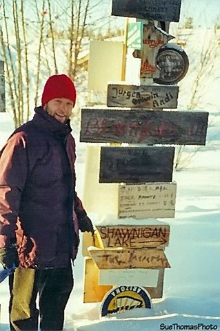 Signpost forest in Watson Lake, Yukon