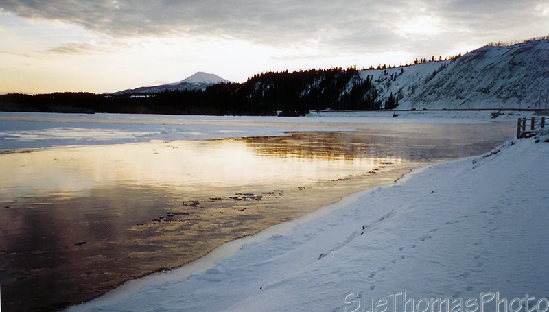Ice on the Yukon River in Whitehorse, Yukon Territory
