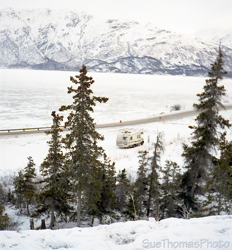 Kluane Lake, Yukon, viewed from Soldier's Summit
