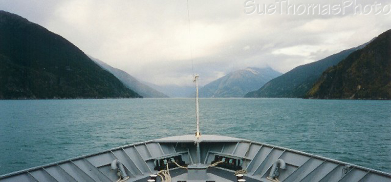 Alaska ferry between Haines and Skagway, Alaska