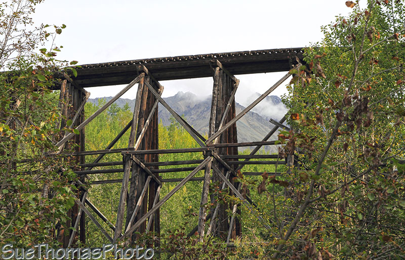 Gilahina Trestle on McCarthy Road in Alaska