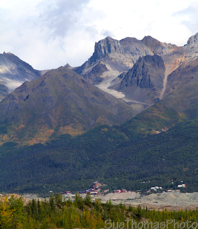 View of Kennicott Mine from McCarthy Road