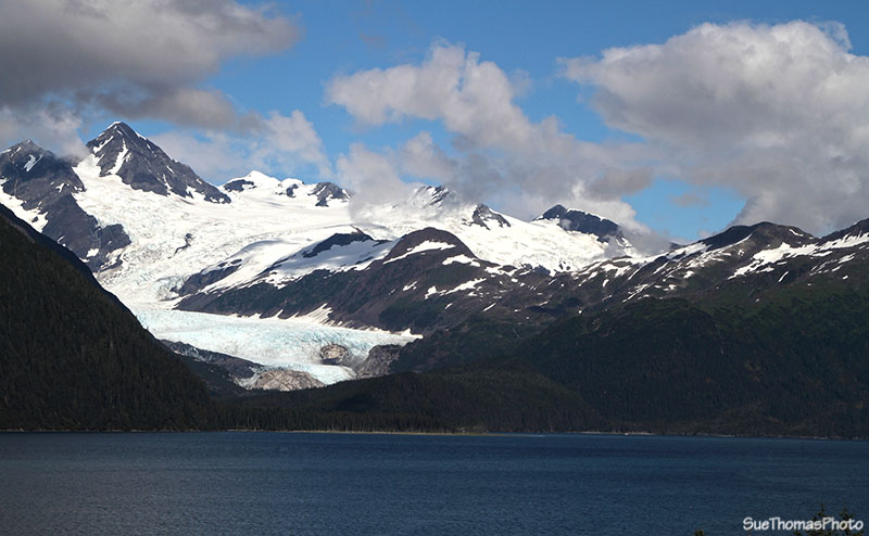 Harriman Glacier viewed from Whittier, Alaska