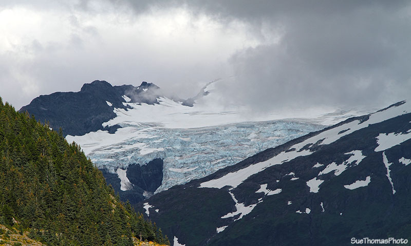 Glacier above Portage Lake, Alaska