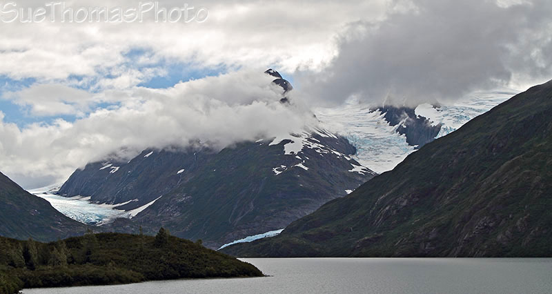 Portage Glacier seen from the highway, Alaska