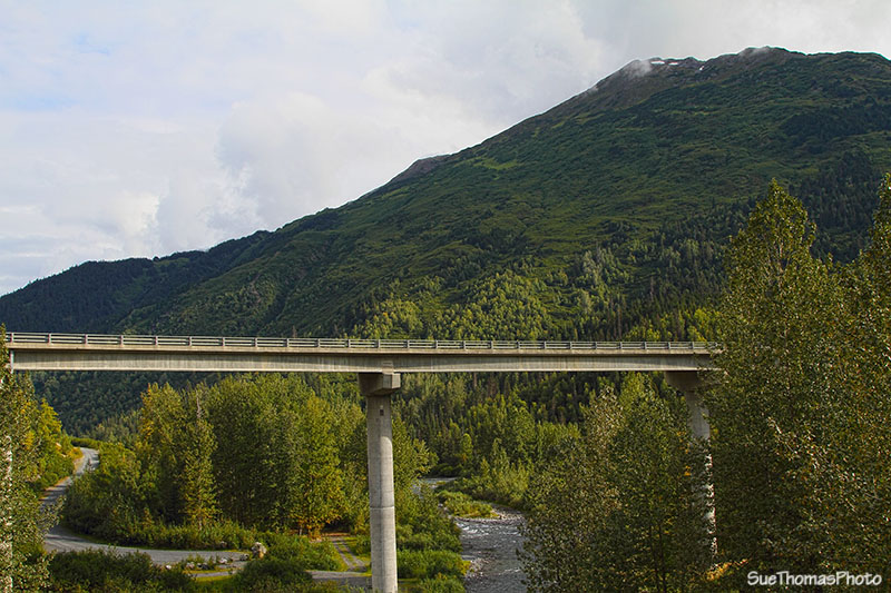 Canyon Creek on Seward Highway, Alaska