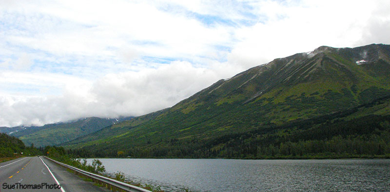 Northbound on the Seward Highway, Alaska