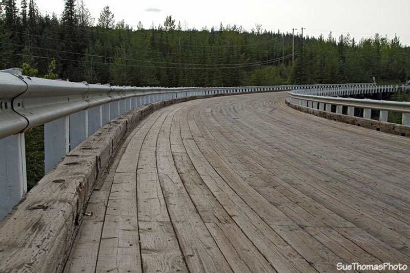 Kiskatinow Bridge, Alaska Highway, BC