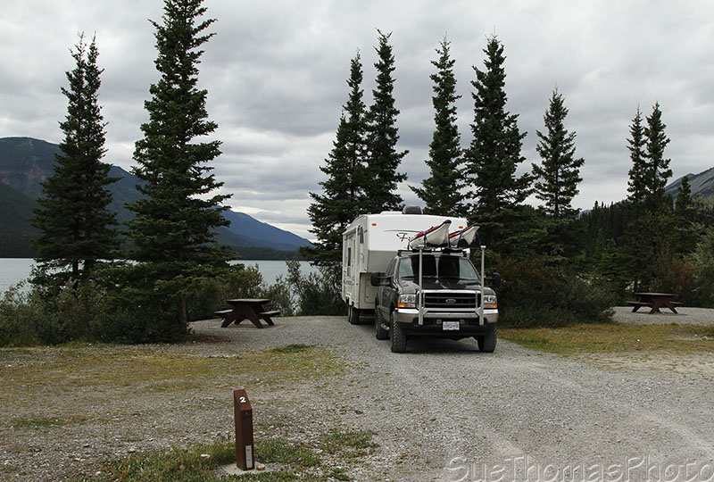 MacDonald campground, Muncho Lake, Alaska Highway, British Columbia