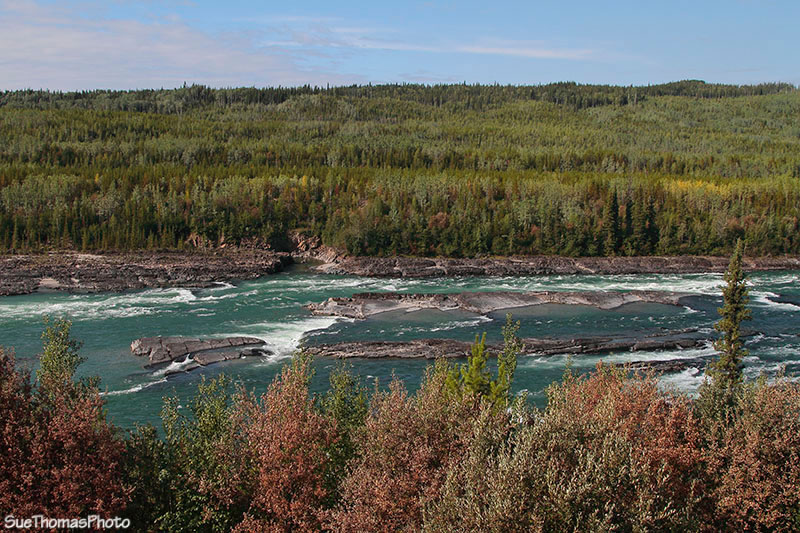 Cranberry Rapids on Liard River, British Columbia near the Alaska Highway