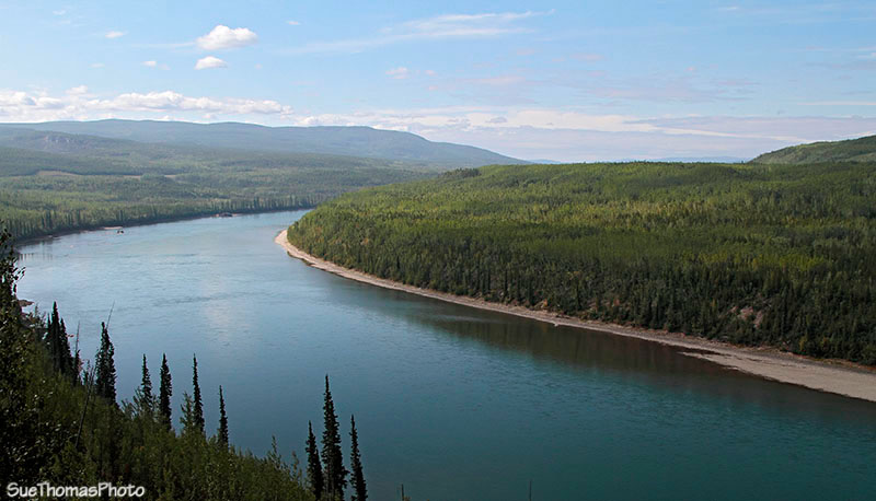 Liard River south of Cranberry Rapids, British Columbia