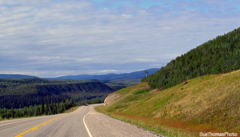 Alaska Highway near Cranberry Rapids and Liard River, British Columbia