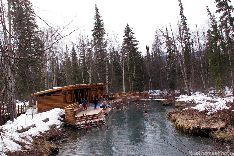 Liard River Hotsprings changerooms, Alaska Highway