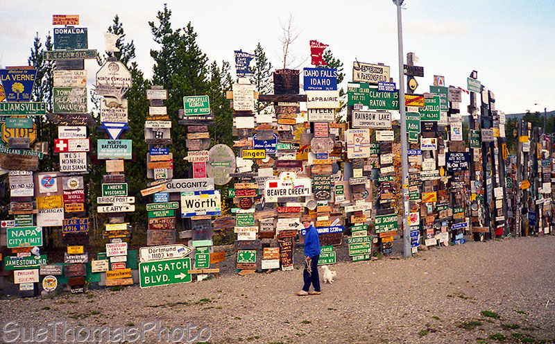 Watson Lake Sign Post forest, Alaska Highway, Yukon