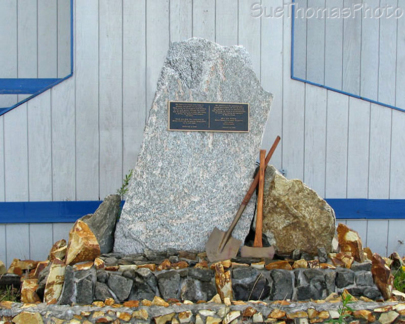 Monument at Stalberg Airfield, Yukon
