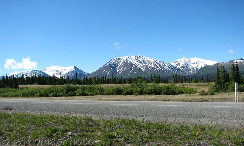 Kluane Lake viewpoint, looking west to Kluane Range, Yukon