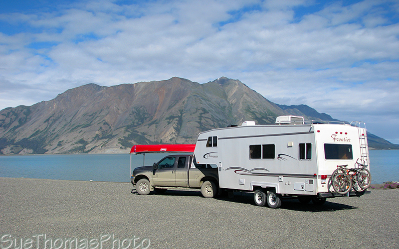 Rest Area on the south side of Kluane Lake, Yukon