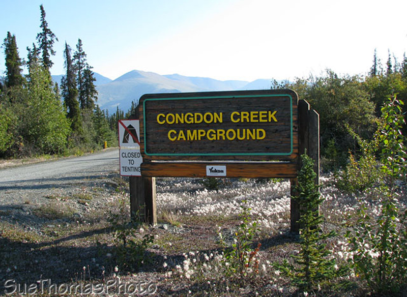Congdon Creek campground on Kluane Lake, Yukon