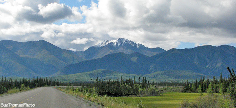 Approaching Koidern on the Alaska Highway northbound