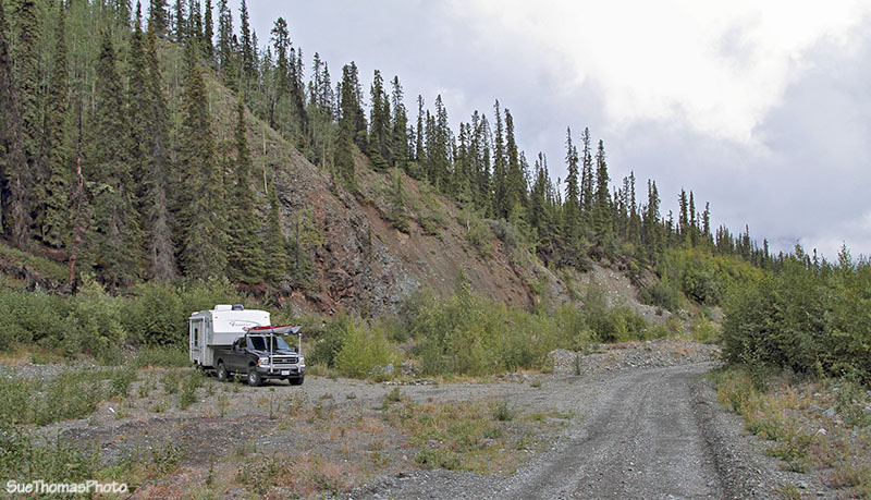 Quill Creek mining road in Yukon
