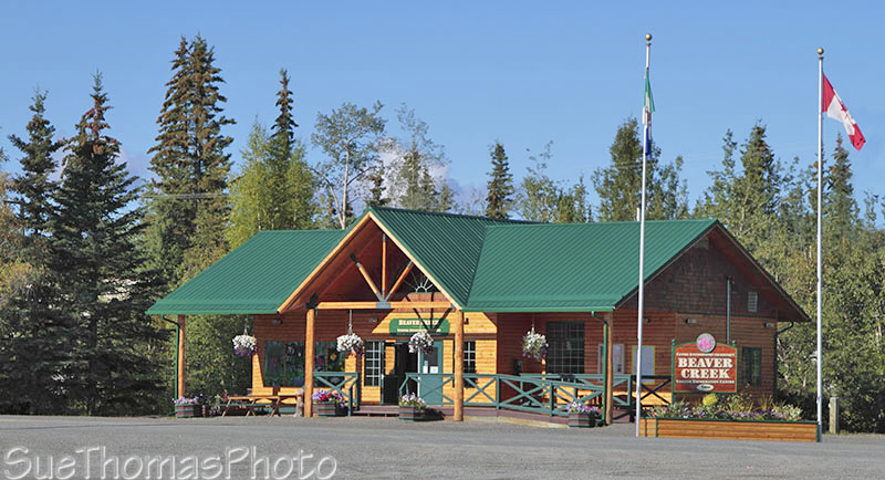 Beaver Creek Tourist Information Centre on Alaska Highway in Yukon