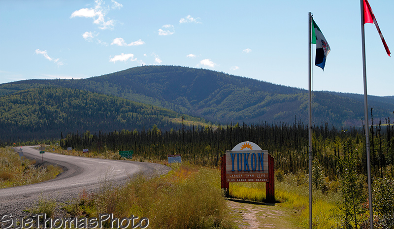 Yukon border at Alaska on Alaska Highway