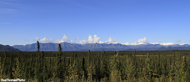 Alaska Highway view in Yukon