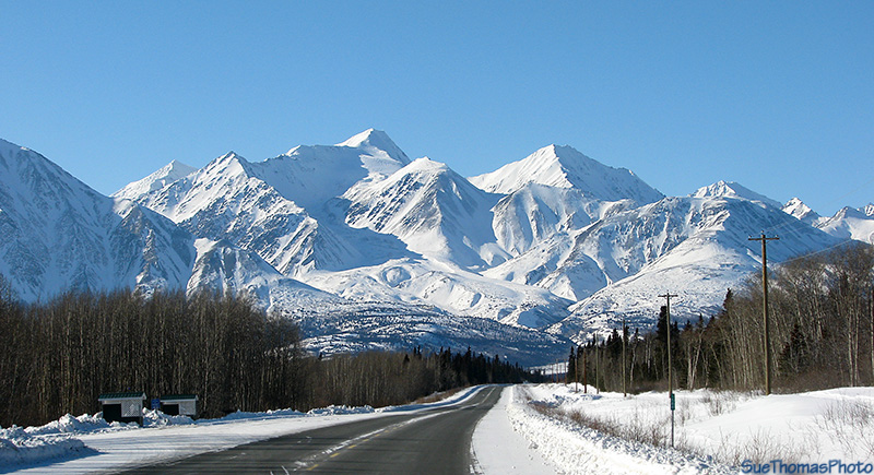 km 1584 Alaska Highway north of Haines Junction, Yukon