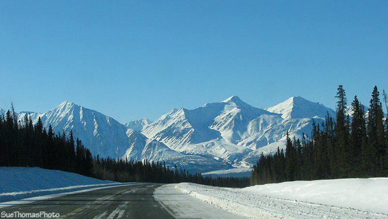 Northbound on the Alaska Highway in Yukon