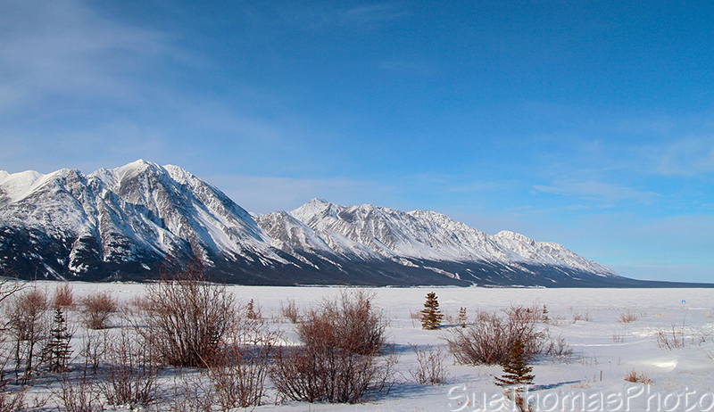 Kluane Lake, Yukon, winter