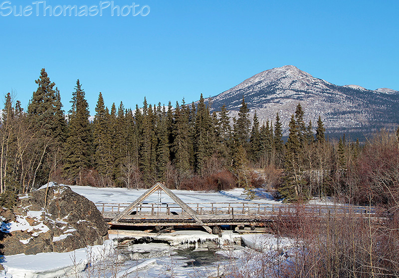 Canyon Creek bridge on Alaska Highway