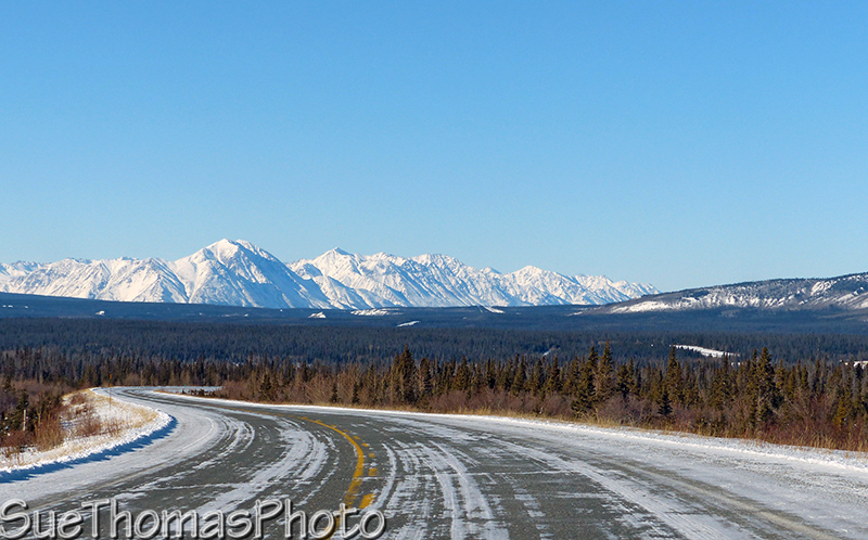 Alaska Highway with snow