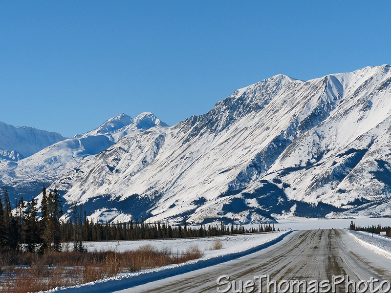 Kluane Lake and Alaska Highway