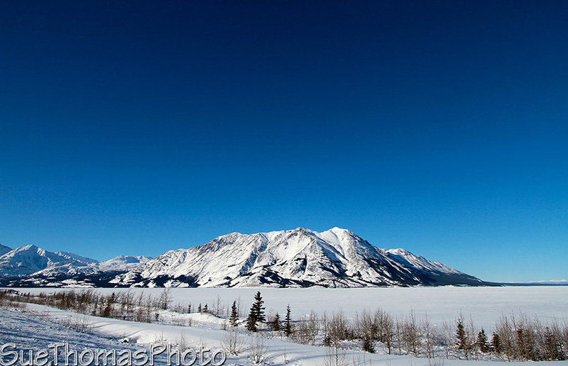 Alaska Highway and Kluane lake