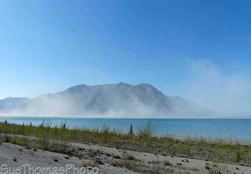 Kluane Lake wind storm