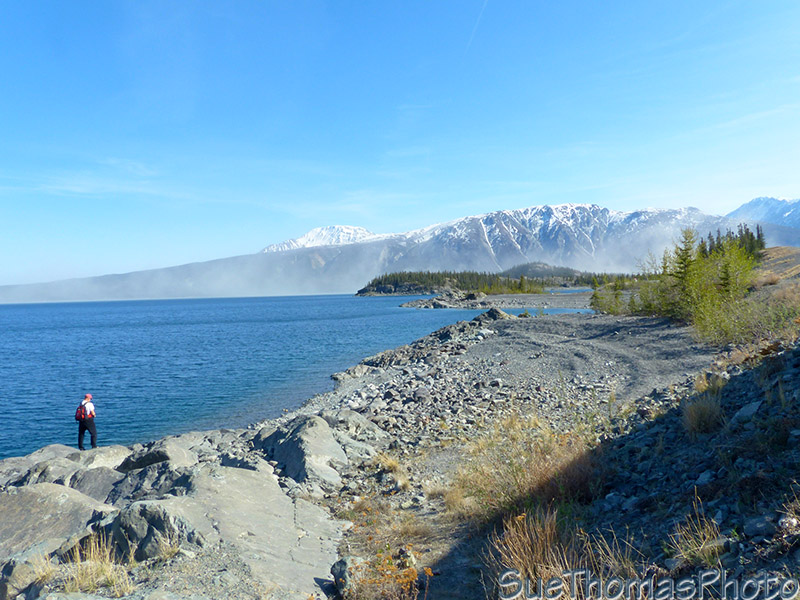 Fishing on Kluane Lake