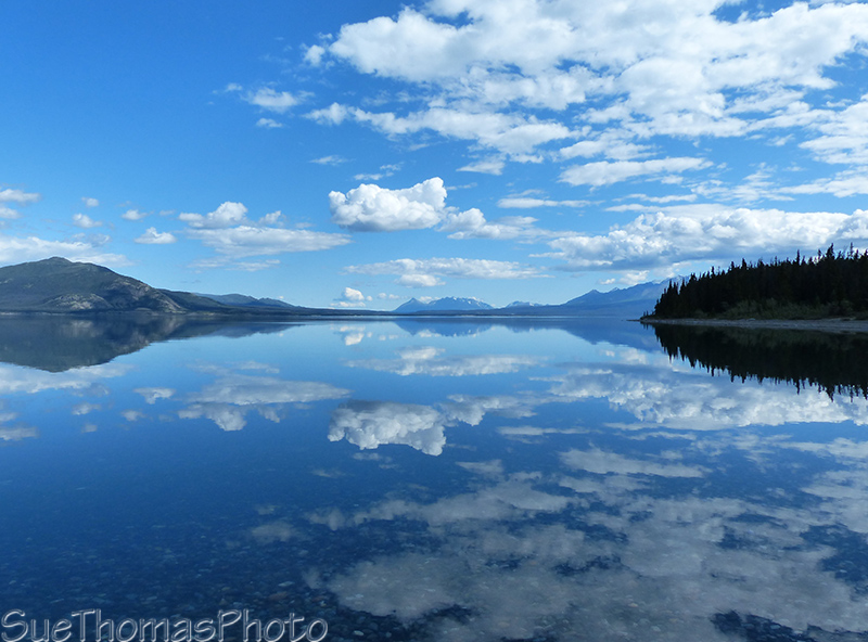 Calm water on Kluane Lake