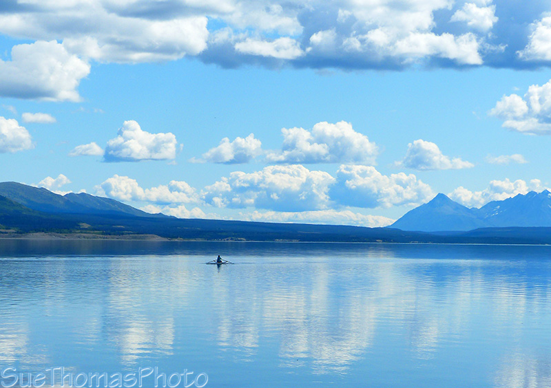 Rowing on Kluane Lake