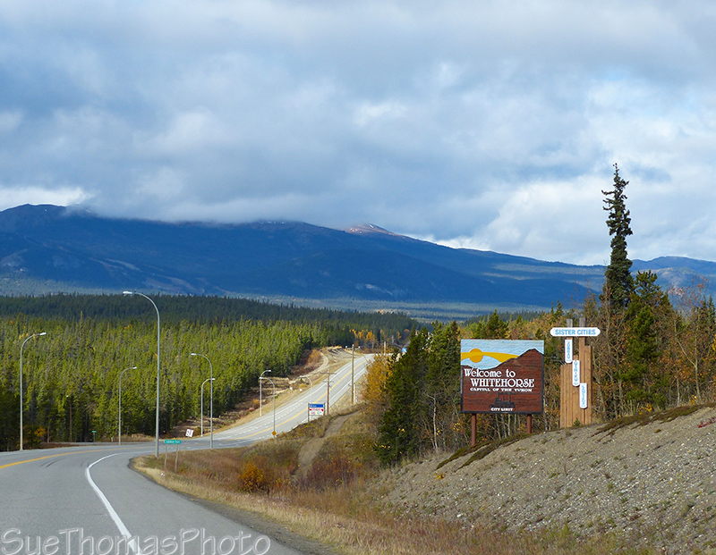 Arriving in Whitehorse, Yukon