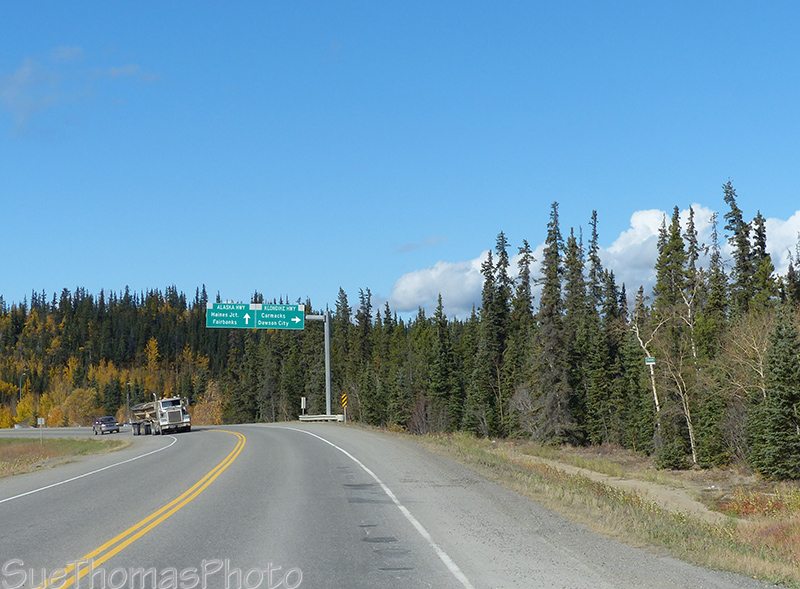 Mayo road - Klondike Highway junction