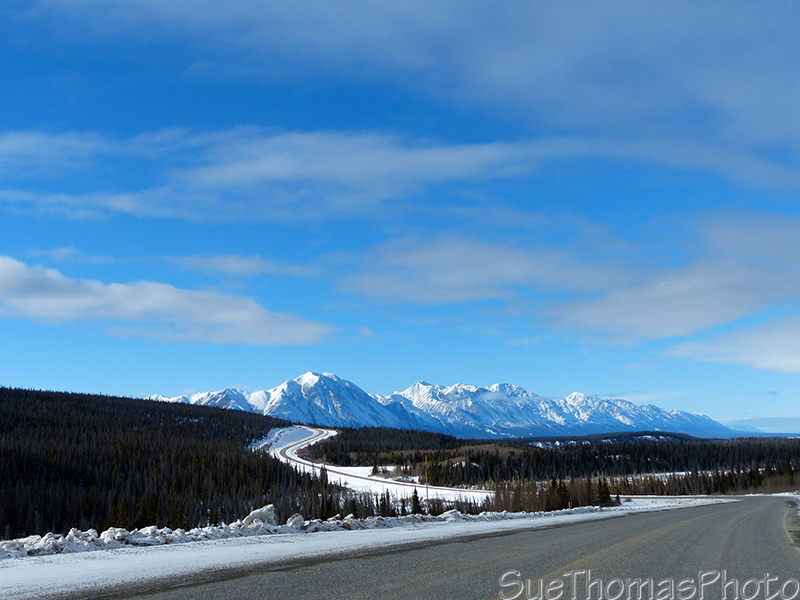 Christmas Creek on the Alaska Highway with Kluane in the background