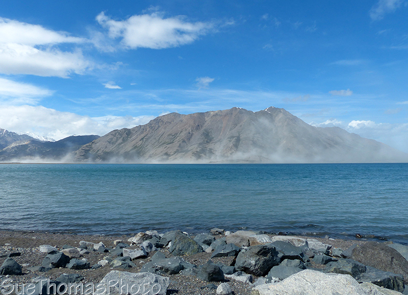Wind and dust storm on the Kluane mud flats