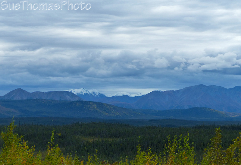 Mountain scenic view along the Alaska Highway