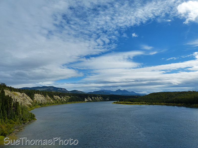 Teslin River seen from Johnson's Crossing