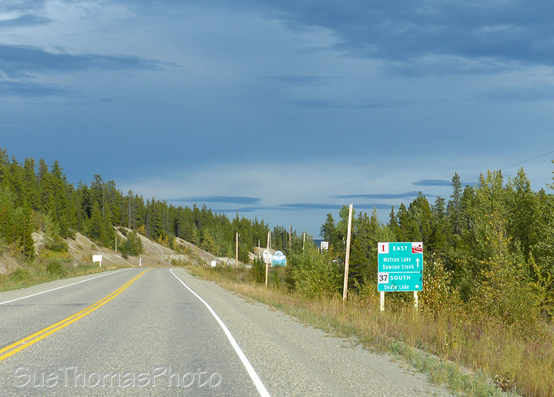 Approaching Junction 37 on the AK Hwy