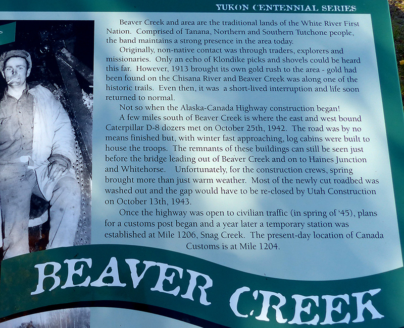 Beaver Creek history sign