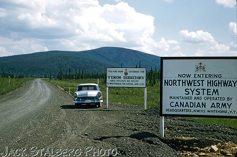 Alaska / Yukon border in the 1950s