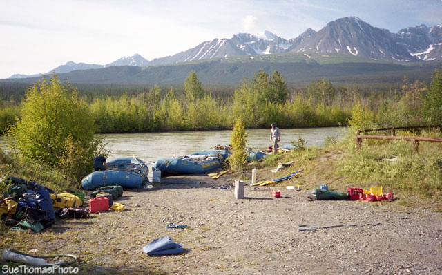 Start of the Alsek River, Haines Junction, Yukon Territory