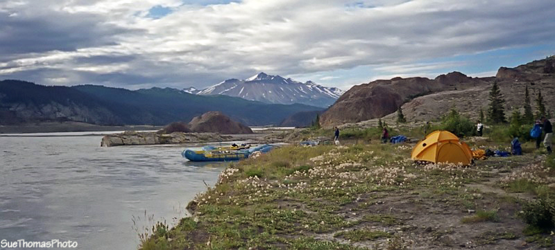 Overnight spot on the Alsek River, Yukon